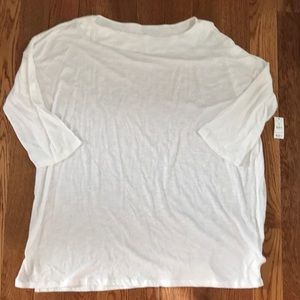 NWT the limited boat neck white top size XXL